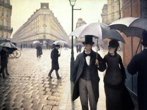 Paris, un jour de pluie by Gustave Caillebotte