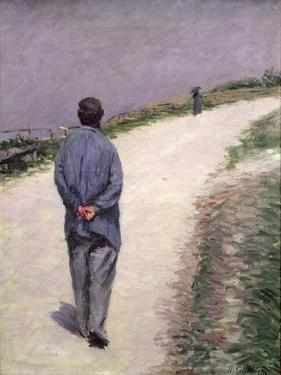 Pere Magloire on the Road to Saint-Clair, Etretat, 1884 by Gustave Caillebotte