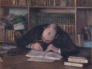 Portrait of the Bookseller E. J. Fontaine, 1885 by Gustave Caillebotte
