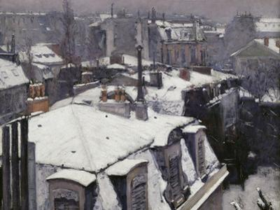 Rooftops in the Snow, c.1878 by Gustave Caillebotte