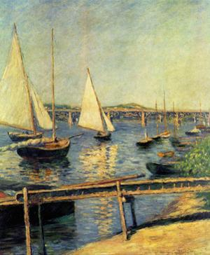 Gustave Caillebotte (Sailboats in Argenteuil) Art Poster Print