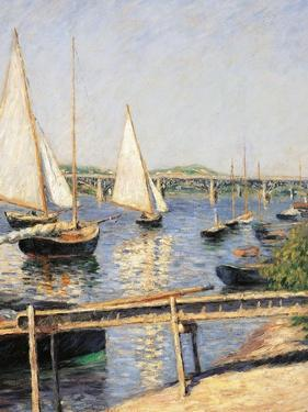 Sailing Boats at Argenteuil by Gustave Caillebotte