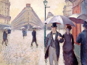 Sketch for 'Paris Street; Rainy Day', 1877 by Gustave Caillebotte