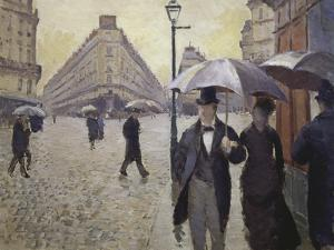Sketch for Paris Street; Rainy Day, 1877 by Gustave Caillebotte