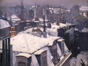 Snow on Roofs, 1878 by Gustave Caillebotte