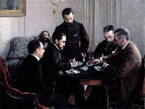 The Bezique Game, 1881 by Gustave Caillebotte