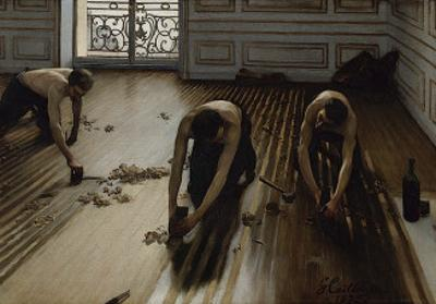 The Floor Scrapers, c.1875 by Gustave Caillebotte