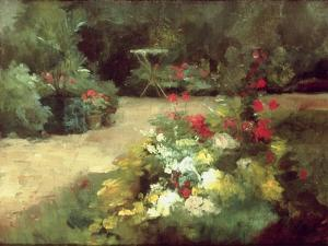 The Garden, c.1878 by Gustave Caillebotte