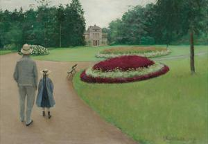 The Park of the Caillebotte Property at Yerres, 1875 by Gustave Caillebotte