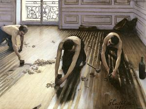 The Parquet Planers, 1875 by Gustave Caillebotte