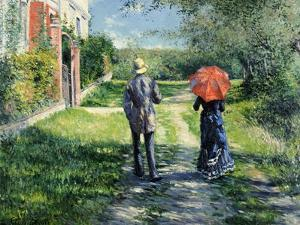The Path Uphill, 1881 by Gustave Caillebotte