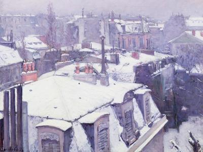View of Roofs or Roofs Under Snow, 1878