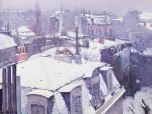 View of Roofs or Roofs Under Snow, 1878 by Gustave Caillebotte