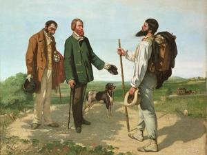 Bonjour, Monsieur Courbet by Gustave Courbet