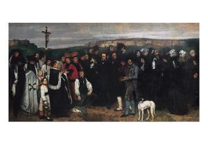 Burial at Ornans (Un Enterrement a Ornans) by Gustave Courbet
