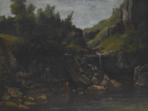 Cascade in a Rocky Landscape, C.1872-4 by Gustave Courbet