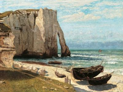 Cliff at Etretat after the Storm by Gustave Courbet