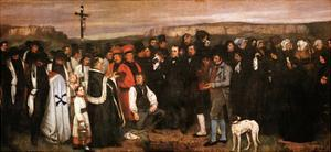 Funeral at Ornans by Gustave Courbet