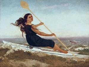La dame au podoscaphe by Gustave Courbet