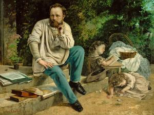 Pierre-Joseph Proudhon and His Children, 1863 by Gustave Courbet
