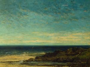 Seascape at Maguelonne by Gustave Courbet
