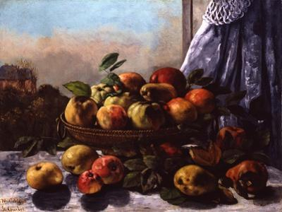 Still Life: Fruit, 1871 by Gustave Courbet