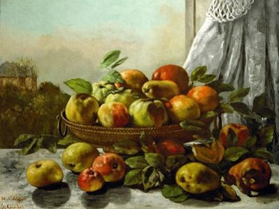 Still-life,fruit by Gustave Courbet