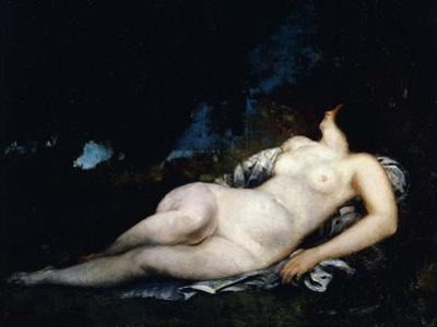 Study for a Woman Sleeping, C.1852 by Gustave Courbet