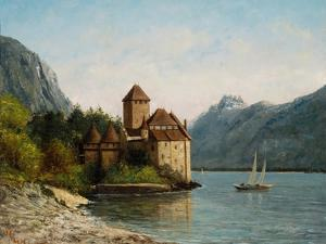 The Castle of Chillon, Evening, C.1872 by Gustave Courbet