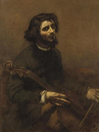 The Cellist , 1847 by Gustave Courbet