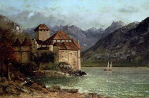 The Chateau de Chillon, 1875 by Gustave Courbet