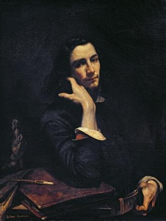 The Man with the Leather Belt, Portrait of the Artist, c.1846 by Gustave Courbet