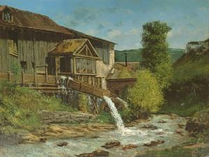 The Sawmill on the River Gauffre by Gustave Courbet