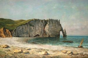 The Sea-Arch at Etretat, 1869 by Gustave Courbet
