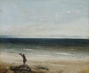 The Seashore at Palavas, 1854 by Gustave Courbet