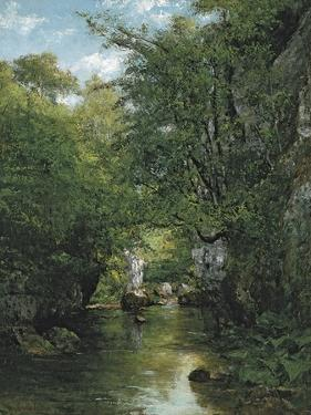The Stream by Gustave Courbet