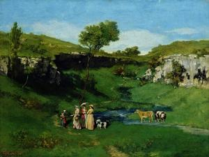 The Village Maidens, 1851 by Gustave Courbet