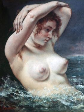 The Woman in the Waves, 1868 by Gustave Courbet