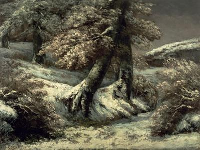 Trees in the Snow, C.1865 by Gustave Courbet