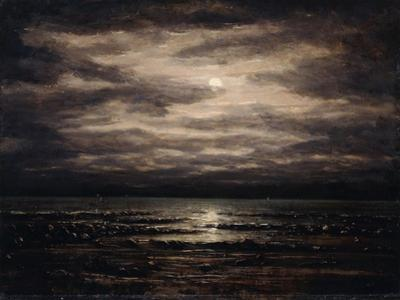 Twilight on Lake Leman in Bon Port, 1876 by Gustave Courbet