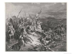 Angels Join in Battle Against the Enemies of the Israelites by Gustave Dor?