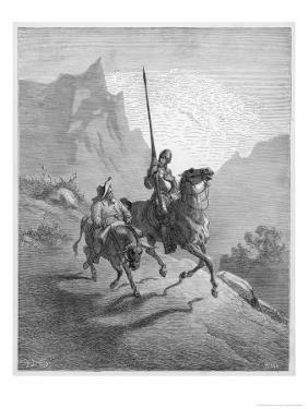 Don Quixote with Sancho Panza Riding Along a Mountain Pass by Gustave Dor?