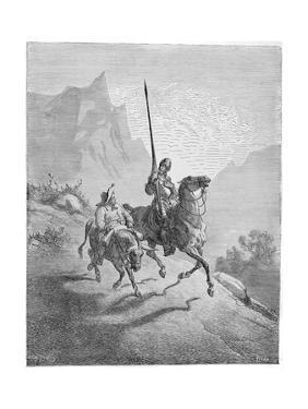 Illustration to the Book Don Quixote De La Mancha by M. De Cervantes, 1863 by Gustave Dor?