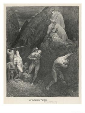 Illustration to the Twenty- Eighth Canto by Gustave Dor?