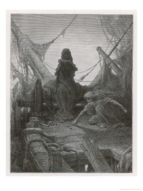 Life-In-Death Dices with Death Himself to Decide the Fate of the Sailors by Gustave Dor?