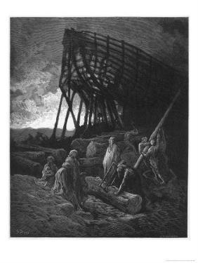 Noah Builds His Ark by Gustave Dor?