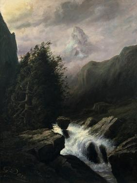 Storm on the Cervin Mountain, 19th Century by Gustave Dor?