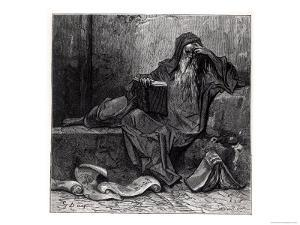 """The Enchanter Merlin, from """"Orlando Furioso"""" by Ludovico Ariosto, Published by Hachette in 1888 by Gustave Dor?"""