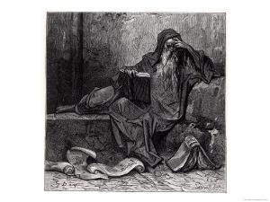 "The Enchanter Merlin, from ""Orlando Furioso"" by Ludovico Ariosto, Published by Hachette in 1888 by Gustave Dor?"