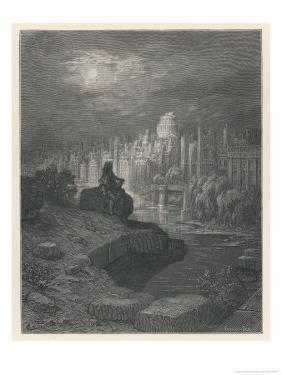 Traveller from New Zealand in Days to Come Contemplates the Ruins of London That Once Great City by Gustave Dor?